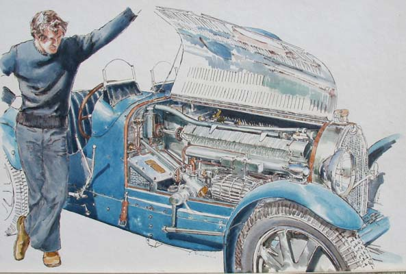 Motoring artwork by Alan Crisp