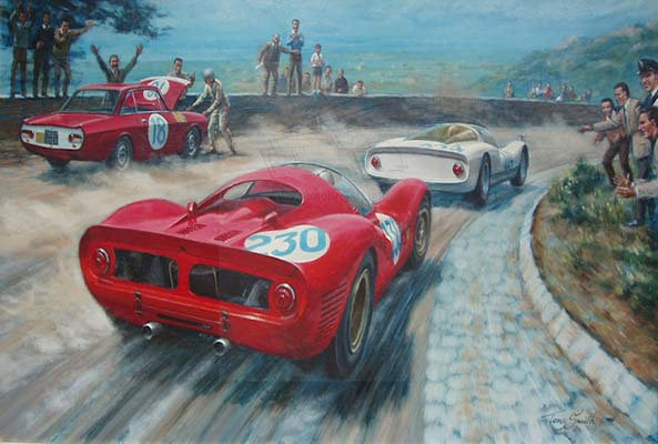 Motoring artwork by Anthony Smith
